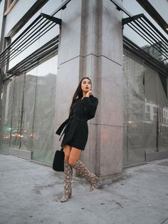 {Find a great variety of women's knee remarkable shoes, look around awol, rain, riding boots plus much more. Snake Print Boots, Snake Boots, Long Boots Outfit, Dress With Boots, Boot Outfits, Snakeskin Boots, Leather Heeled Boots, Botas Outfit, Summer Cruise Outfits