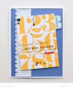 123 Happy Birthday *Card Kit* by JennPicard at @Studio_Calico