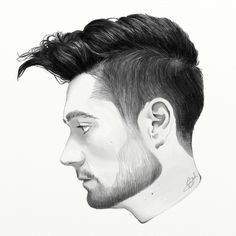 A digital drawing I made of Dan Smith from Bastille.
