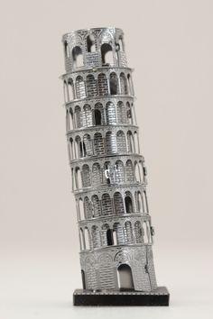 Metal Earth Leaning Tower of Pisa Metal Model Kit Metal Earth Models, Metal Models, Metal Model Kits, At At Walker, Pisa Italy, Foot Pads, Fascinator, Tower, Stainless Steel