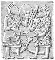 Del av hjälm vendel vendeltid pressad bronsplåt