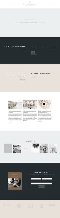 Minimalist and Modern Typography Squarespace Website Design for Professional Copywriter | Design by Treadaway Co. . . . #minimalist #modern #simple #typography #webdesign #websites #squarespace #creativewebsite