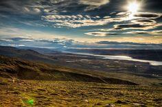 Looking Down at Egilsstaðir, east Iceland