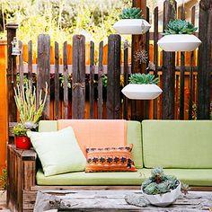 "Hang succulents for an outdoor ""chandelier"""