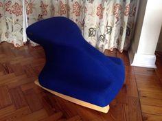 Balans-kneeling-blue-chair-rocker-therapist-pilates-like-stokke-Cost-350