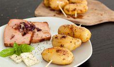 Kartoffelspieße mit Fleischkäse | Risotto & more #fleischkäse #leberkäse #kartoffeln #spieße #kartoffelspiesse