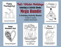Holiday Coloring Books Halloween Coloring by VividBlissPrintables