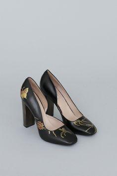 Dries Van Noten Hand Painted Heel (Black)