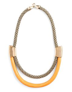 silkstonewood - Orly Genger by Jaclyn Mayer - Roxbury Necklace Check Tangerine Gold, $175.00 (http://www.silkstonewood.com.au/orly-genger-by-jaclyn-mayer-roxbury-necklace-check-tangerine-gold/)