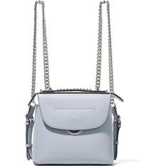 Fendi Back to School mini leather backpack (5.455 BRL) ❤ liked on Polyvore featuring bags, backpacks, leather backpack, crossbody backpack, white leather backpack, fendi crossbody and white crossbody