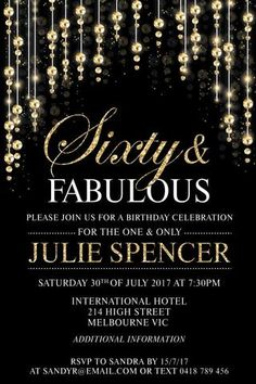 65 best invitations for women birthday invitations images on 60th birthday party invitation sensational sixty filmwisefo