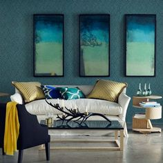 Discover stylish living room design ideas on HOUSE - design, food and travel by House & Garden. The watery reflections captured in the tinted mirror glass add a touch of other-worldiness to this room.