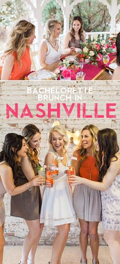 a darling nashville bachelorette party brunch
