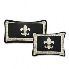 Complex stitching and the classic French Fleur de Lis design highlight this regal and chic bedding collection from Donna Sharp. Presented in a sophisticated black and tan palette, this is the perfect way to add style and elegance your bedroom. Chic Bedding, Luxury Bedding, Linen Bedding, Bed Linen, Bed Bath & Beyond, Sports Bedding, Pillow Shams, Pillows, Bedding Collections