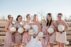 different shades of tan bridesmaid dresses | ... bridesmaid dresses are a great way to fit in two complementary colors