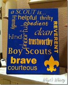 """Neat idea for blue and gold.  Incorporates the new """"One Oath, One Law"""" initiative."""