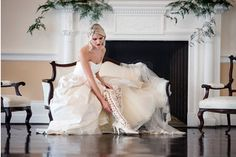 Photo shoot for House of Elliot. @charlottegodfrey wearing @houseofelliotlaceboots & @emmahuntlondon gown. Photo by @careysheffieldphotography. Hair & make up @malincoleman, flowers @joannetrubyfloraldesign & styling @linen_and_silk #weddingdress #madeinengland