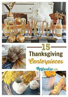 Pretty Thanksgiving Centerpiece ideas.