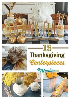 Pretty Thanksgiving Centerpiece ideas.