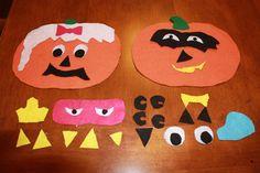 Fun Fall Crafts: Felt Pumpkin Craft. Decorate a pumpkin without the usual mess of carving one! #kidscrafts #kidsactivities #northtexaskidsmagazine