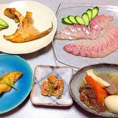 チカメキントキのお刺身、 チカメキントキの素揚げ、 熊肉入りおでん です。 - 13件のもぐもぐ - チカメキントキの晩ご飯 by Orie Ueki