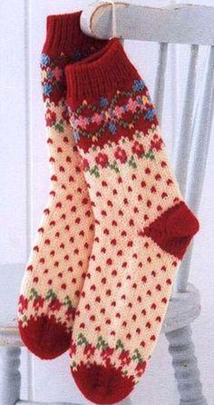 knit socks wool socks knitted socks Scandinavian pattern Norwegian socks Christmas socks gift to man. gift to woman men socks Women socks. Crochet Socks, Knit Mittens, Knitting Socks, Hand Knitting, Knitting Patterns, Knit Crochet, Scandinavian Pattern, Wool Socks, Fair Isle Knitting