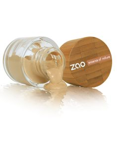 Organic silica extracted from Bamboo, organic almond oil, jojoba and shea butter make ZAO's Silk Liquid foundation a deep moisturizer with a slightly powdery finish, high long lasting uniform coverage for throughout the day. | www.zaoorganicmakeup.com #Beauty #Makeup #SkinCare #Face #NaturalProducts #EcoLuxury