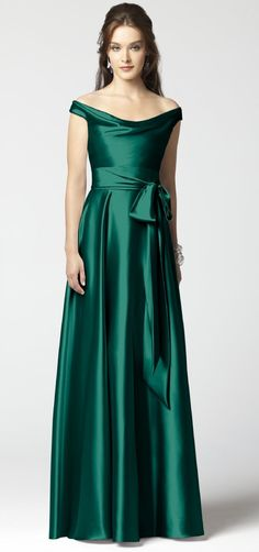 @Mary Allen Langford can this be my bridesmaid dress in your future (guaranteed to be ridiculously formal) wedding? Emerald Bridesmaid Dress // Dessy #coloroftheyear