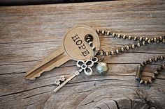 Vintage Key necklace type on keys
