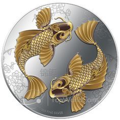 Niue 2012 2$ Feng Shui - Koi Proof Silver Coin :: Top World Coins