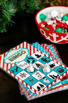 Free printable Christmas Bingo game -- fun idea to play Christmas Book Bingo -- read aloud Christmas stories and students/kids listen for words in the story that are on their card.