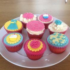 bright girlie dress cupcakes