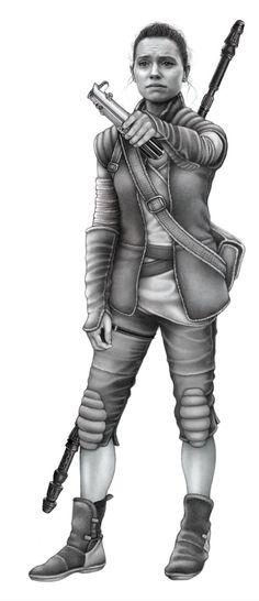 Rey of Hope (Graphite) - by Ashley Verkamp. Rey, Star Wars, The Force Awakens, TFA, Star Wars Episode 7, FanArt, Daisy Ridley #Rey #StarWars #TFA #TheForceAwakens #Illustration #FanArt #Daisy Ridley