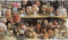 Fiona and Twig: Antique Week in Review....lol doll heads