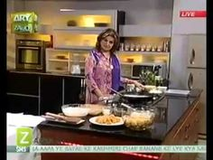 Suji Nariyal Ka Jama Hua Halwa And Ragda Chaat by Sara Riaz Zaiqa - YouTube