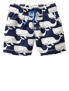 Whale swim trunks | Gap
