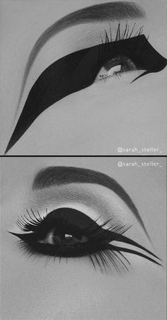 Makeup Artist Sarah Steller creates these bold and absolutely beautiful eyeliner looks that are sure to cause attraction on any catwalk.