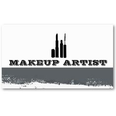 Makeup artist business card. Stand out from the crowd with custom business cards.    $24.60per pack of 100 business cards.