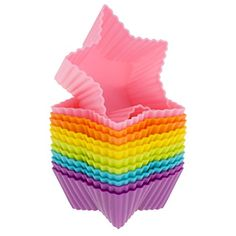 Baking Party, Baking Cups, Rainbow Colors, Vibrant Colors, Star Cupcakes, No Bake Brownies, Cupcake Liners, Cupcake Wrappers, Baking Tools