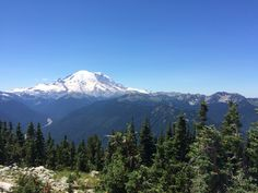 Gorgeous view of Mount Rainier from the top of Crystal.