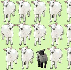 Black Sheep fabric by eve_s on Spoonflower - custom fabric