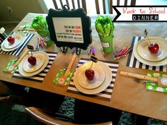 Our Annual Family Back to School Dinner complete with family motto for the year. From Marci Coombs' Blog
