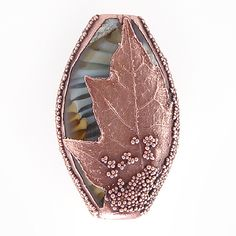 Handmade Electroformed Organic Lampwork Focal Leaf Bead by Touch of Glass Designs, via Flickr