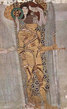 Beethoven Frieze: Knight (detail) by Gustav Klimt, 1902. Vienna Secession