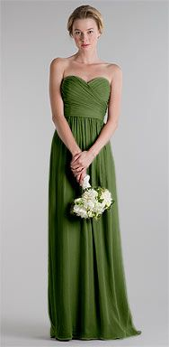 $395  Jenny Yoo Margaux silk crinkle chiffon in jeweled green ($355.50 each for 3 to 6 dresses)