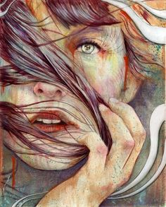 Art by Michael Shapcott. His art is a blend of illustration and traditional portraiture created with a mixture of acrylics, graphite, and oil. Pintura Graffiti, Art Graphique, Pics Art, Art Plastique, Love Art, Oeuvre D'art, Amazing Art, Awesome, Painting & Drawing