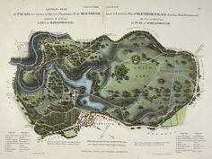 L'Art de Créer les Jardins, etc. - caption: 'A new and accurate plan of Blenheim Palace.' | por The British Library