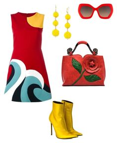 """""""Retro party"""" by kat-henderson on Polyvore featuring RED Valentino, Haider Ackermann, Alice + Olivia and INC International Concepts"""