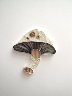Looking for Quilling Paper Cupcakes? Check out our selection of Quilling Paper Cupcakes at ThePaperyCraftery's Shop on Etsy Paper Quilling Patterns, Quilled Paper Art, 3d Quilling, Quilling Paper Craft, Paper Crafts, Quilling Ideas, Mushroom Crafts, Mushroom Decor, Paper Fruit