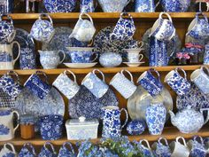 Decorating a kitchen dresser with Burleigh pottery